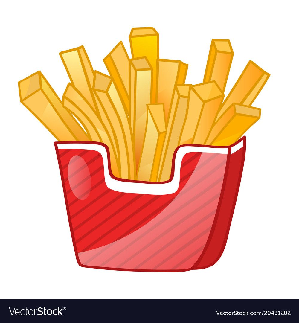 French Fries Isolated Icon Vector Image On Vectorstock French Fries Pictogram Icon