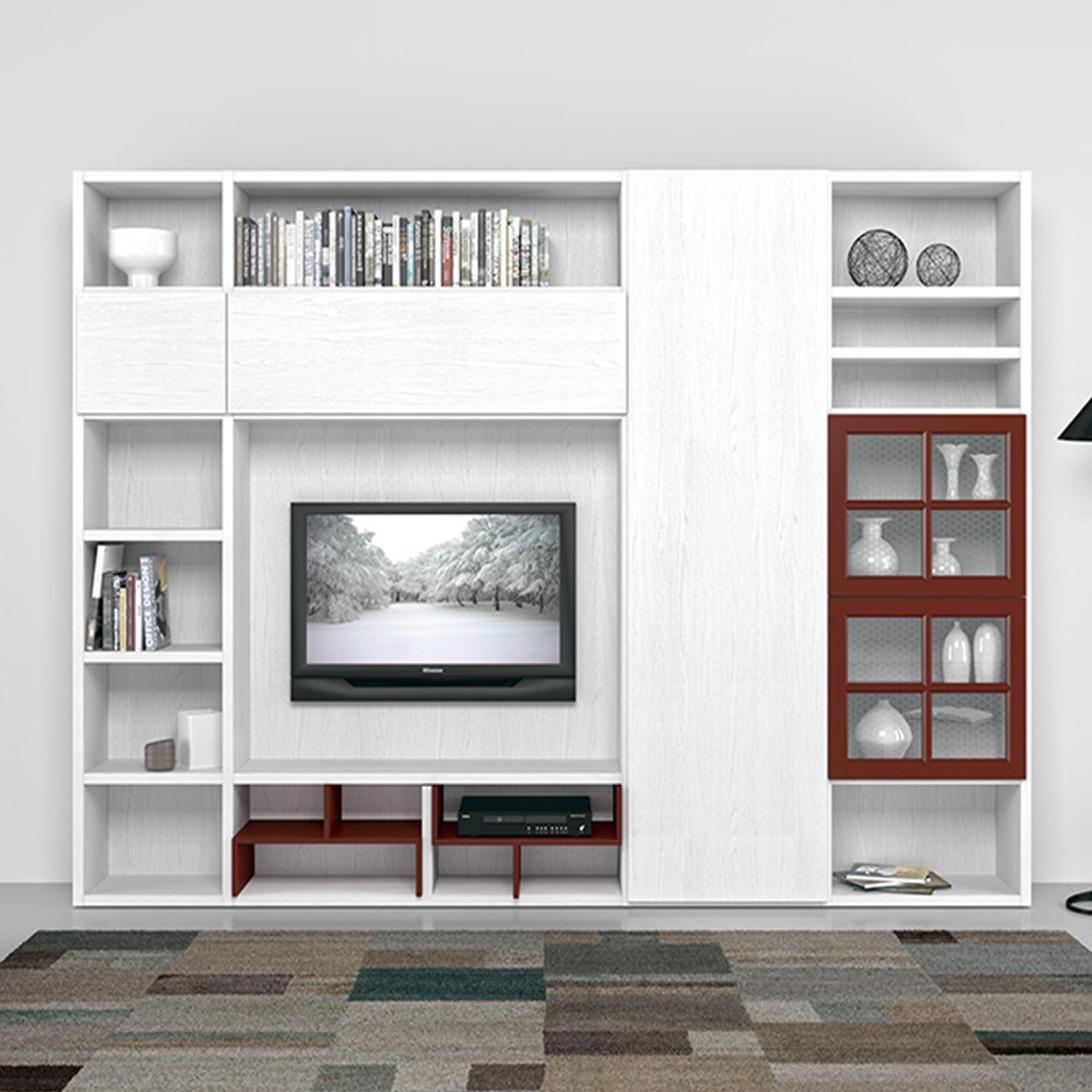 modern italian tv stand or media unit, modern living room