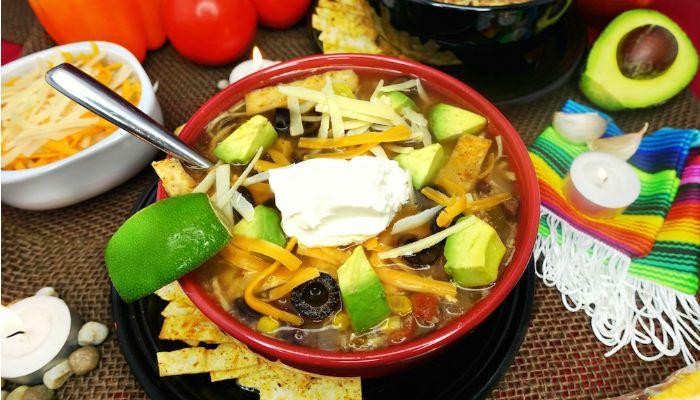 Gluten Free Chicken Tortilla Soup Slow Cooker Recipe - Sabrina's Sinless Secrets #chickentortillasoup