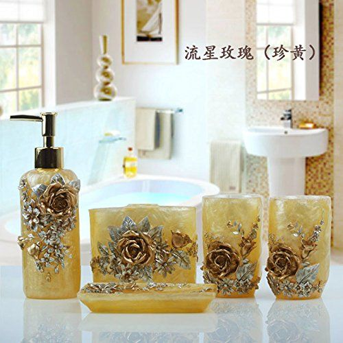 Fivebathroom Sets Resin Bathroom Mouthwash Wash Kit Mouthwash