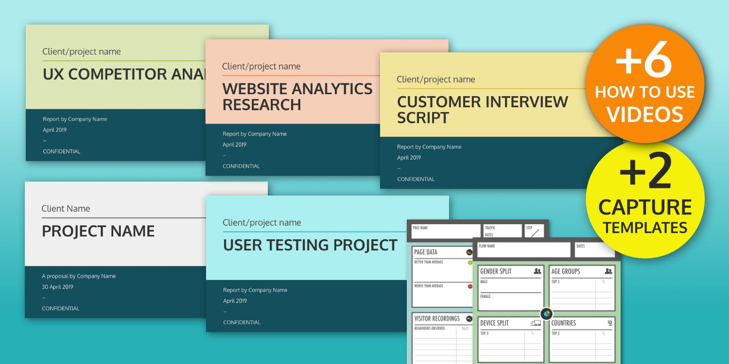 Ux Design Templates User Research Reports And Guides Throughout Ux Report Template Best Professional Report Template Template Design Professional Templates