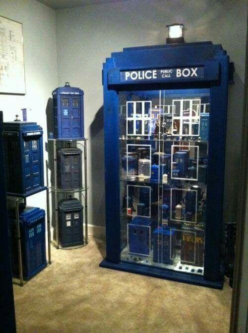 TARDIS cabinet full of TARDIS-es? TARDI?