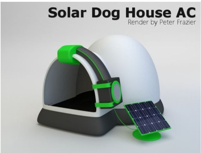 Dog House With Solar Powered Air Conditioning Will Keep