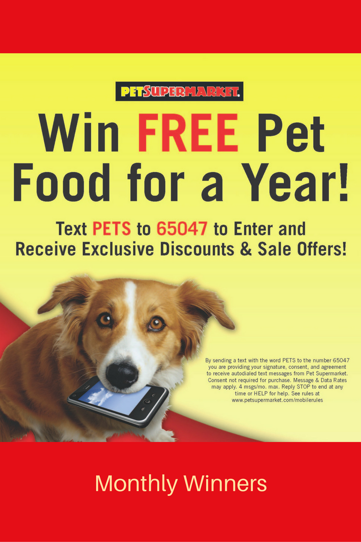 Win Free Pet Food For A Year Text Pets To 65047 By Sending A
