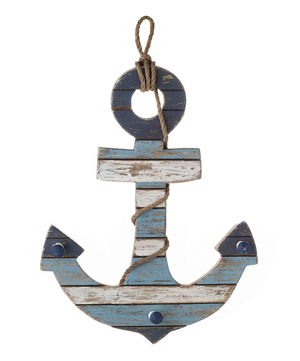 Blue anchor wall decor