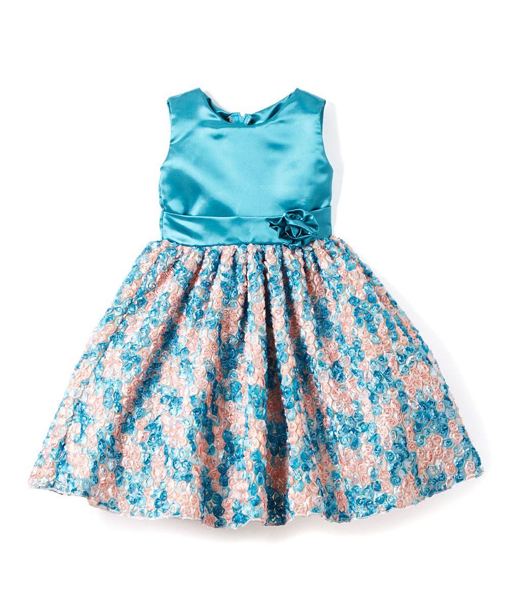 Deep Sea Rosette Dress - Infant, Toddler & Girls