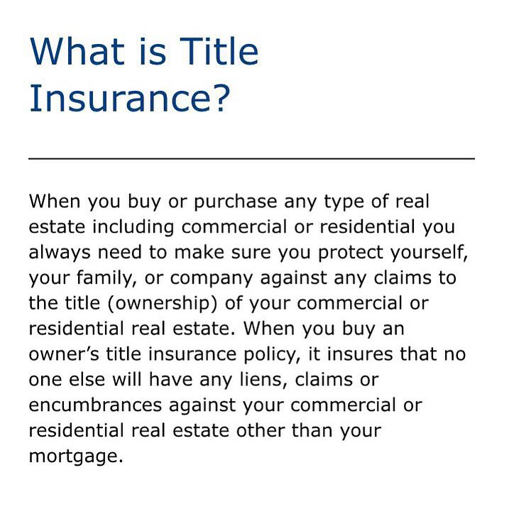 What Is Title Insurance Title Insurance Insurance Title