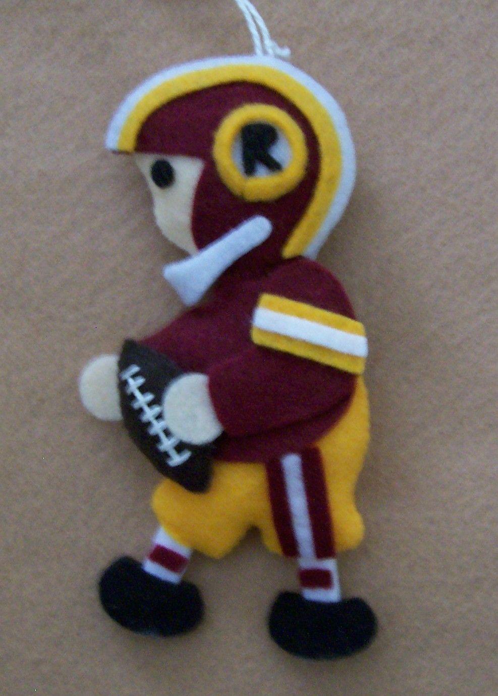 Football player ornament - Fans Of Carolyn Deangelis Felt Ornaments Clif Football Player