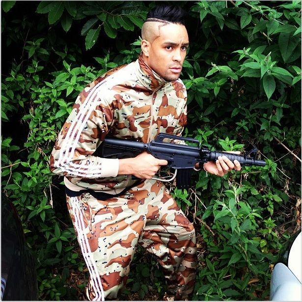 Ashley Banjo thoroughly enjoyed their day out at out Essex Paintball Centre. #AshleyBanjo #paintball