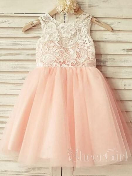 5a1e2983a6e Spaghetti Strap Long Dusty Rose Floral Flower Girl Dresses ARD1477 ...