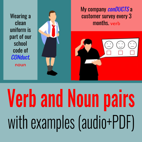 Verb And Noun Pairs With Examples Audio Pdf