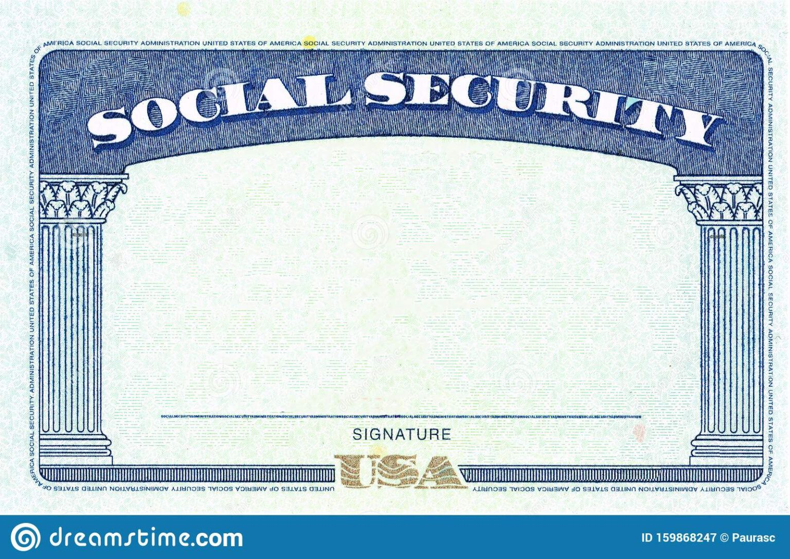 Social Security Card Blank Stock Image Image Of Emigration Pertaining To Blank Social Security Card Social Security Card Card Templates Free Id Card Template
