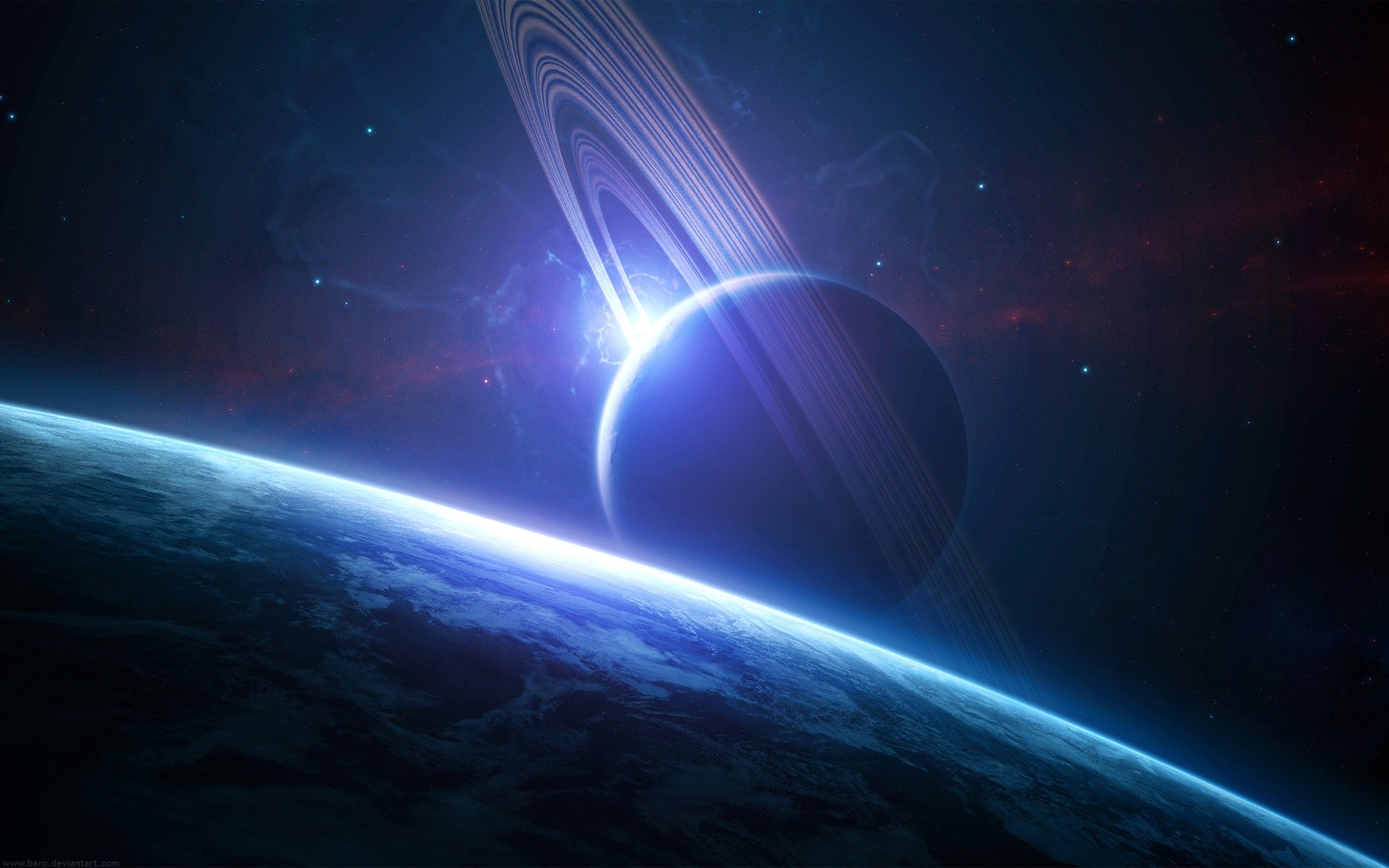 Rings Of Saturn Outer Space Wallpaper Planets Wallpaper