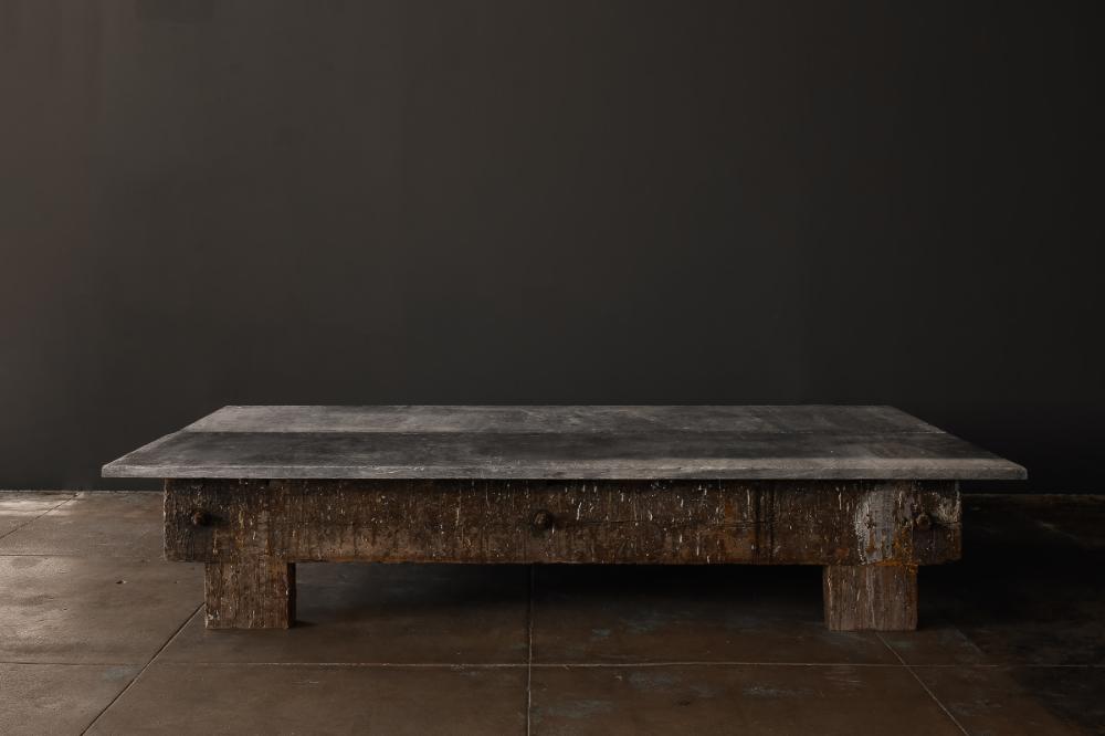A Massive Double Panel Bluestone Coffee Table Galerie Half