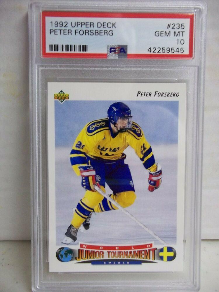 1992 upper deck peter forsberg psa gem mint 10 hockey card