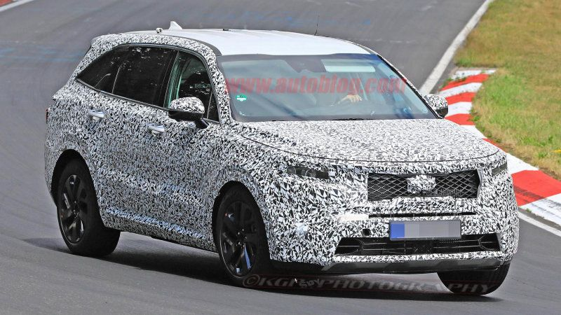 2021 Kia Sorento Seen Testing On The Nurburgring With Images