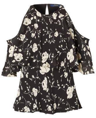 f01b7ad7233ed0 Polo Ralph Lauren Floral-Print Cold-Shoulder Blouse - Floral 12 ...
