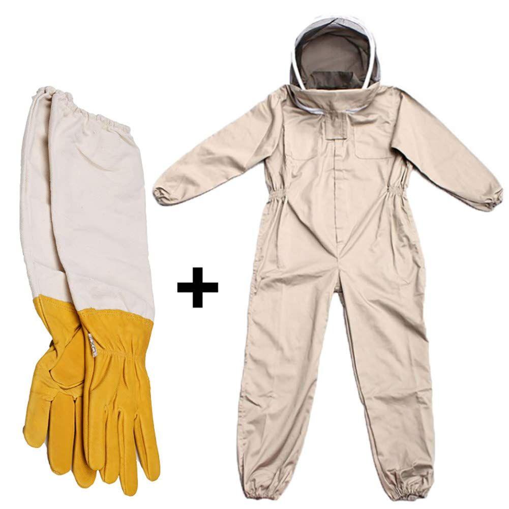 Protective Bee 3 Layer Ultra Ventilated beekeeping jacket veil hat hood@4XL