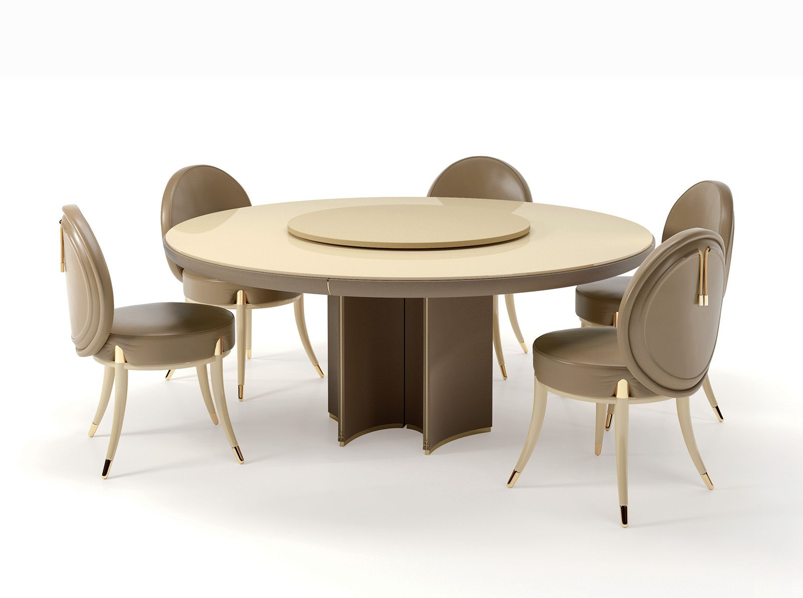 Noir Collection www.turri.it Round table with lazy susan | The Art ...