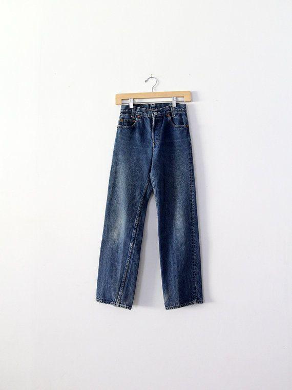 Vintage Levis Jeans / 1980s Levis 701 / Waist 25 by 86Vintage86