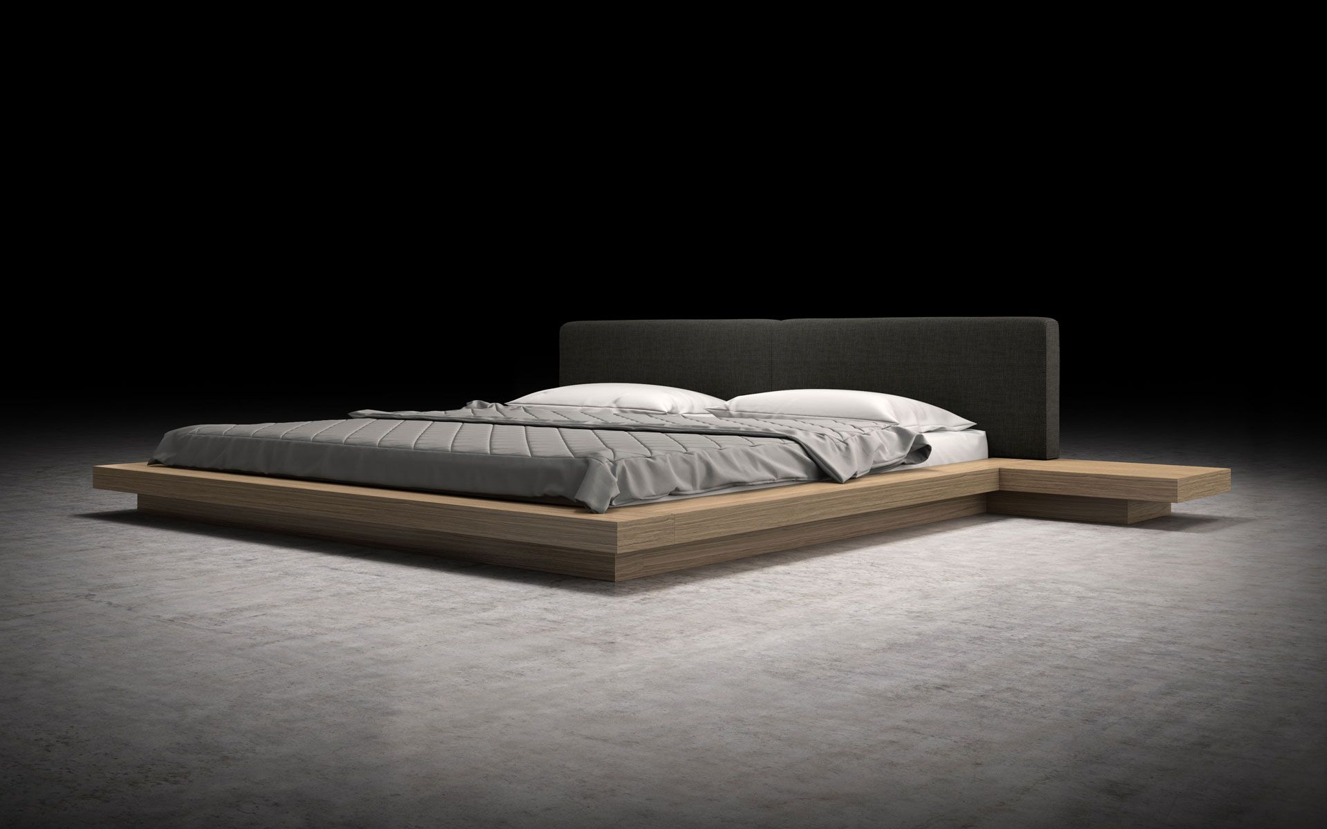 The Japanese Inspired Worth Platform Bed Features A Low Profile