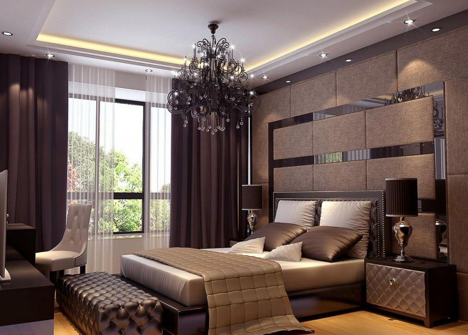 Bedroom, Residence Du Commerce Elegant Bedroom Interior 3D Modern ...