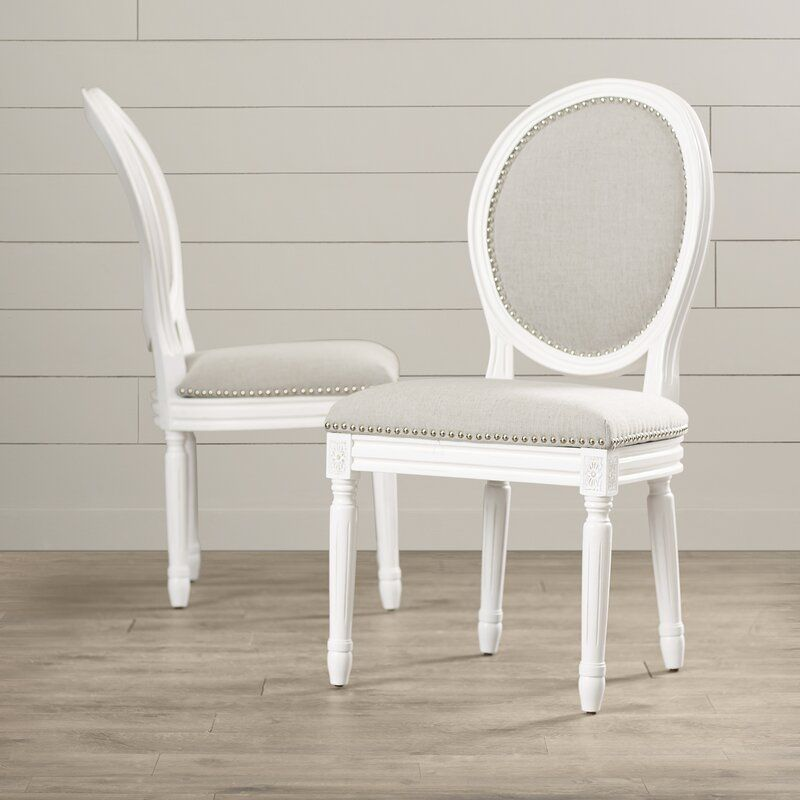 Fleur king louis back side chair in 2020 upholstered