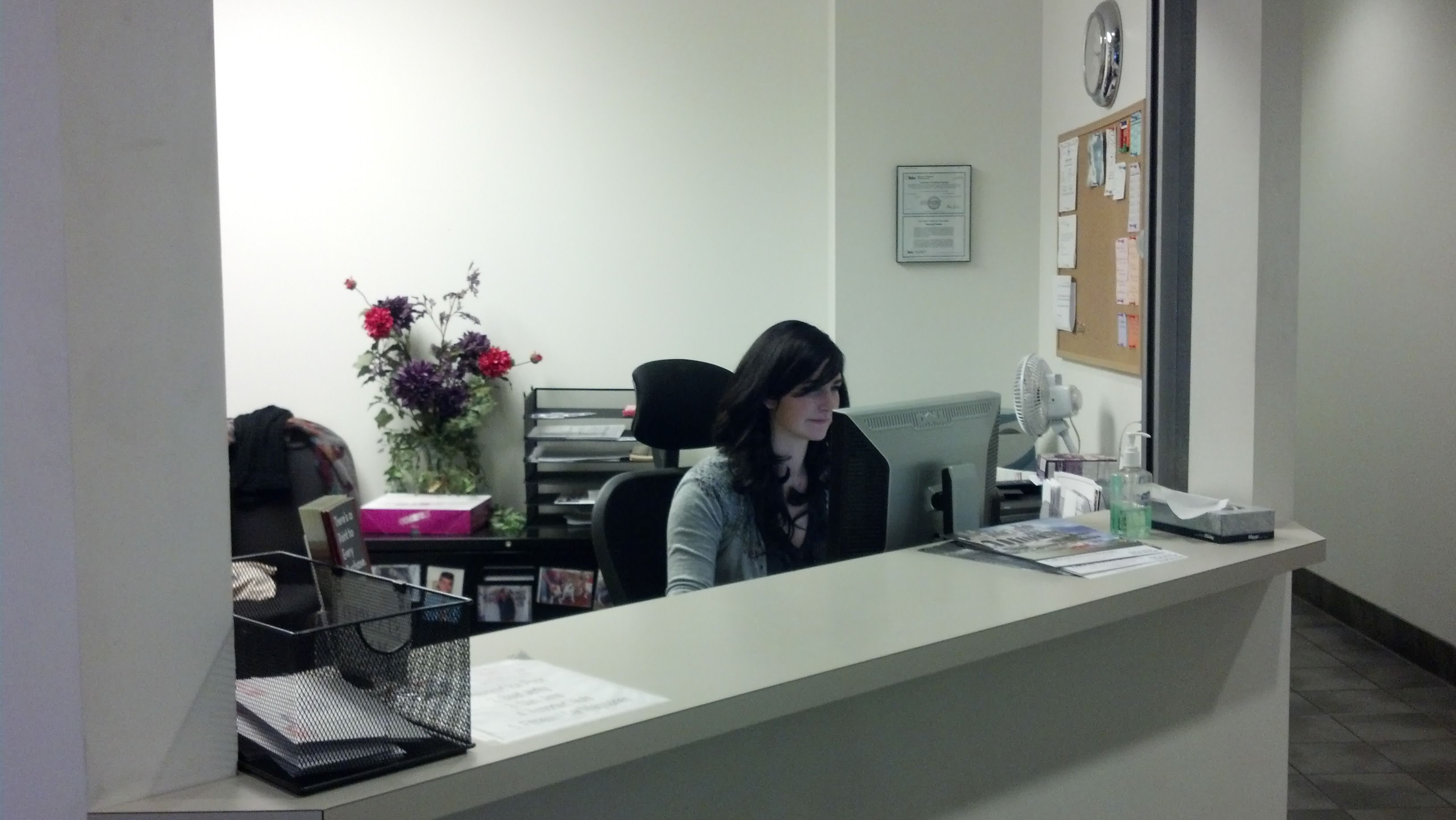 Our Cashier, Receptionist, waiting for your call!! New