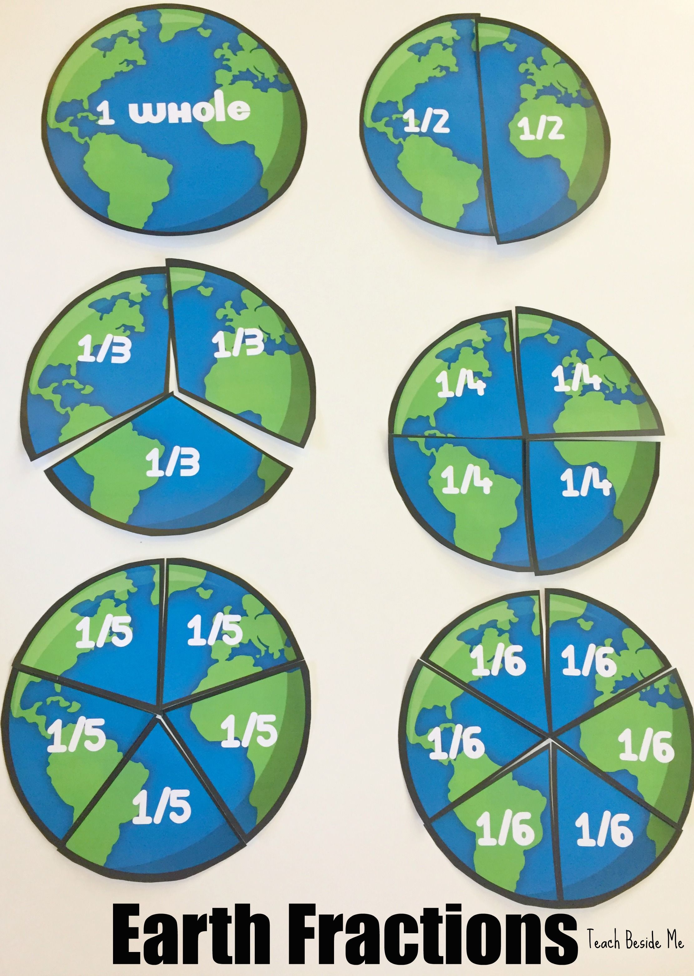 Earth Fractions An Earth Day Math Activity