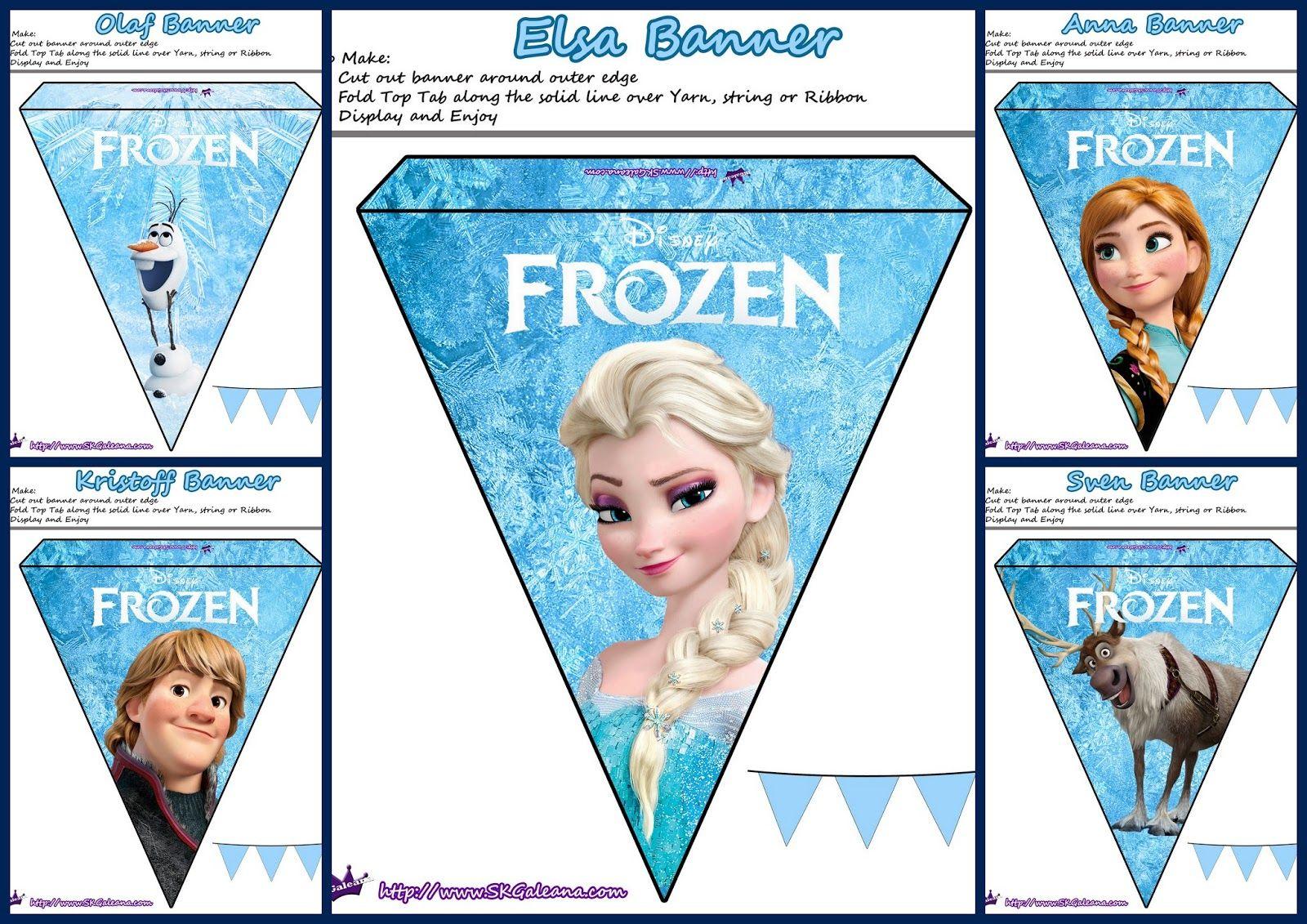 Frozen: Lindos Banderines para Imprimir Gratis. | 4 compleanno Viola ...