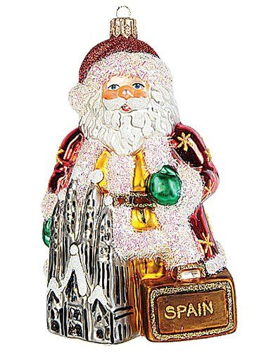Spanish Santa In Spain Polish Blown Glass Christmas Ornament Tree Decoration Christmas Ornaments Top Brands Artists Designer Names Glass Christmas Ornaments Christmas Ornaments Blown Glass Christmas Ornaments