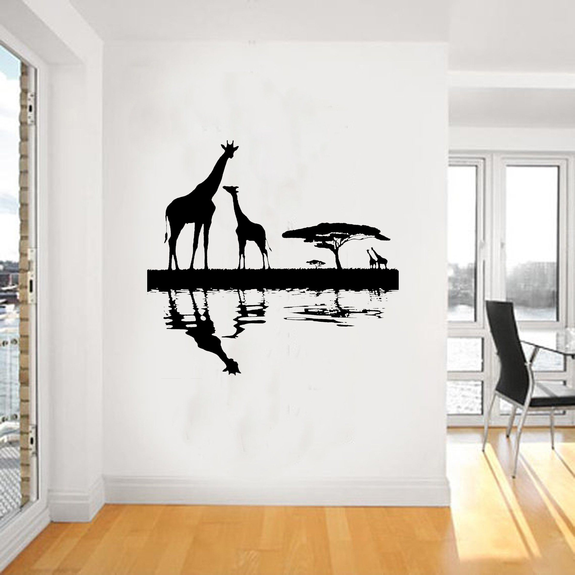 Loud Designs Giraffe African Wall Art Sticker, Vinyl WA062, dinning ...