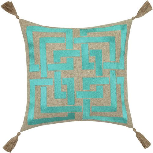 Found it at AllModern - Neon Shanghai Links Embroidered Linen Throw Pillow
