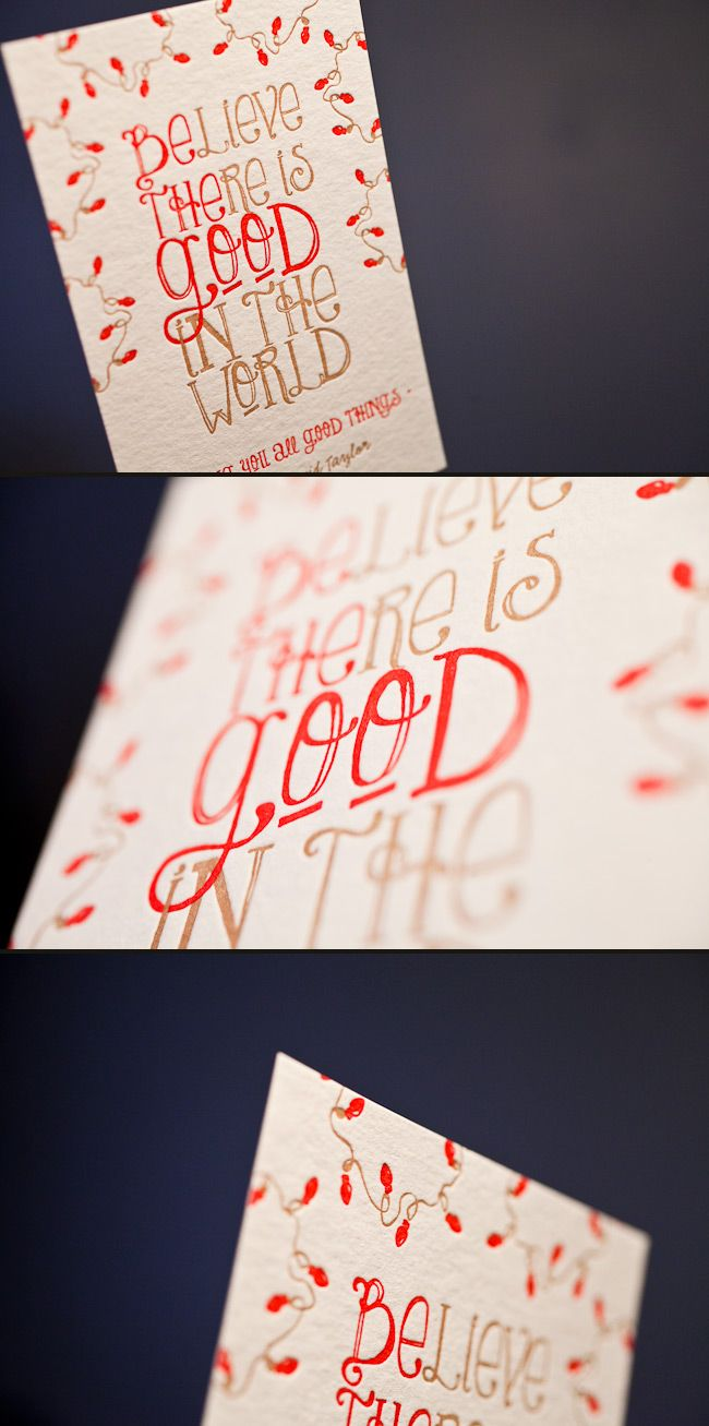 Colorful And Cheery Letterpress Holiday Cards Letterpress