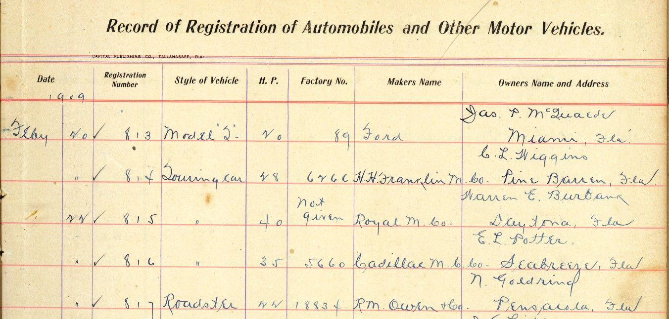 Florida's First Automobiles Automobile, Florida, Motor car