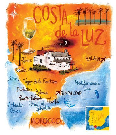 Costa De La Luz Spain Map.Scott Jessop Map Of Costa De La Luz Spain Hola Spain