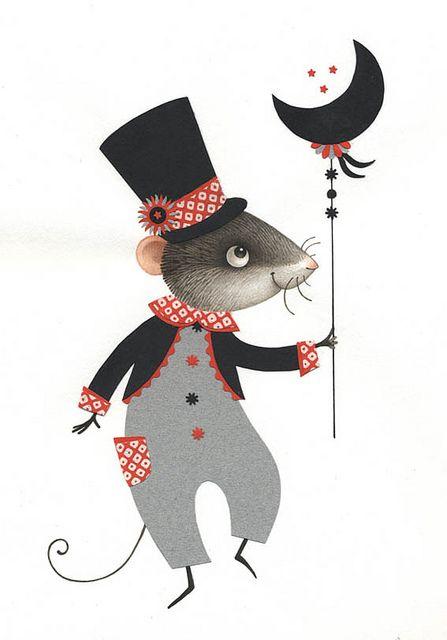 Une souris si belle dans son habit de fête !!!