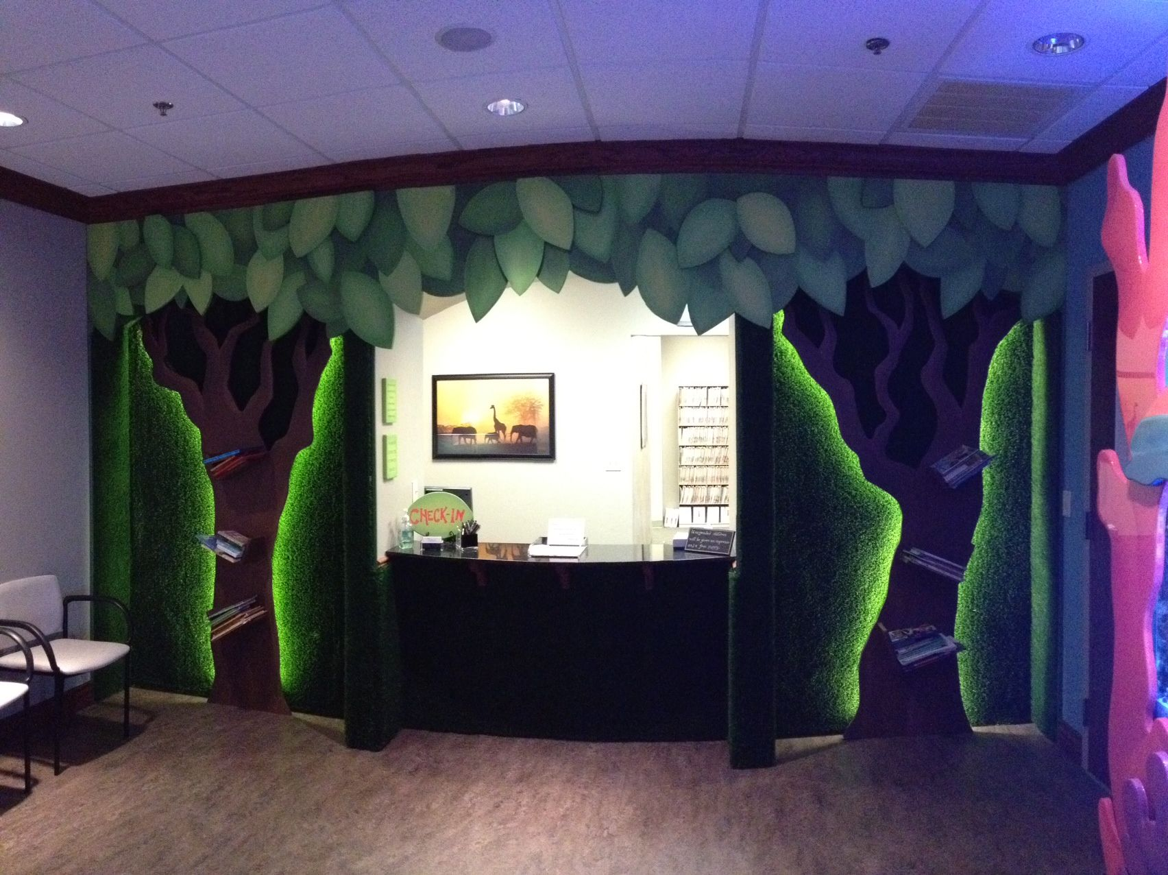 Custom jungle tree wall village center pediatrics edmond ok my kid 39 s doc 39 s new office Interior designers edmond ok
