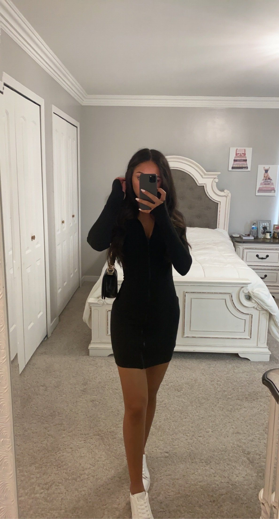 ZIP IT UP DRESS – Black / Large – Cute outfits