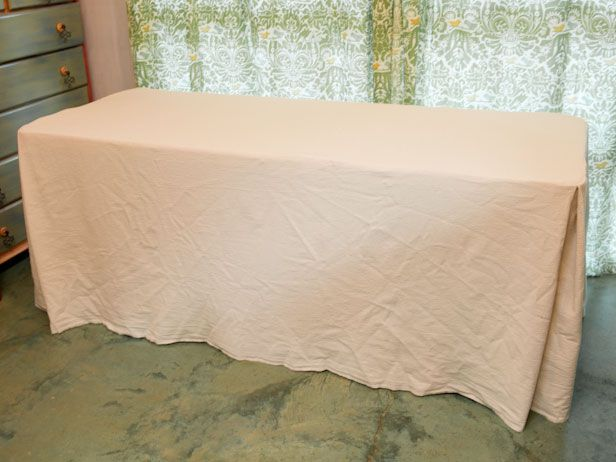 Delightful Make A Tablecloth For A Folding Table | Made + Remade