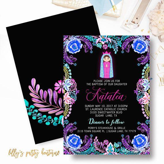 Baptism Invitations Virgin Mary