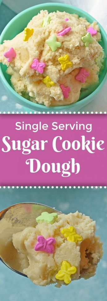 Single Serving Sugar Cookie Dough - Edible Cookie Dough