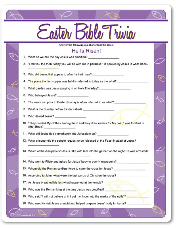 Resurrection eggs easter scavenger hunt trivia easter for Easter egg fun facts