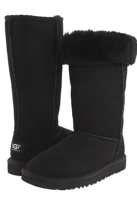 UGG Kids Classic Tall (Big Kid) (Black) Girls Shoes - UGG Kids