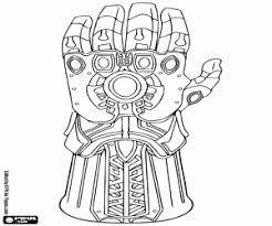 Avengers Para Imprimir Y Colorear Búsqueda De Google Guante De Thanos Los Vengadores Para Colorear Guante Del Infinito