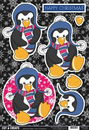 Buzzcraft Cut & Create - Christmas Friends - Percy the Penguin