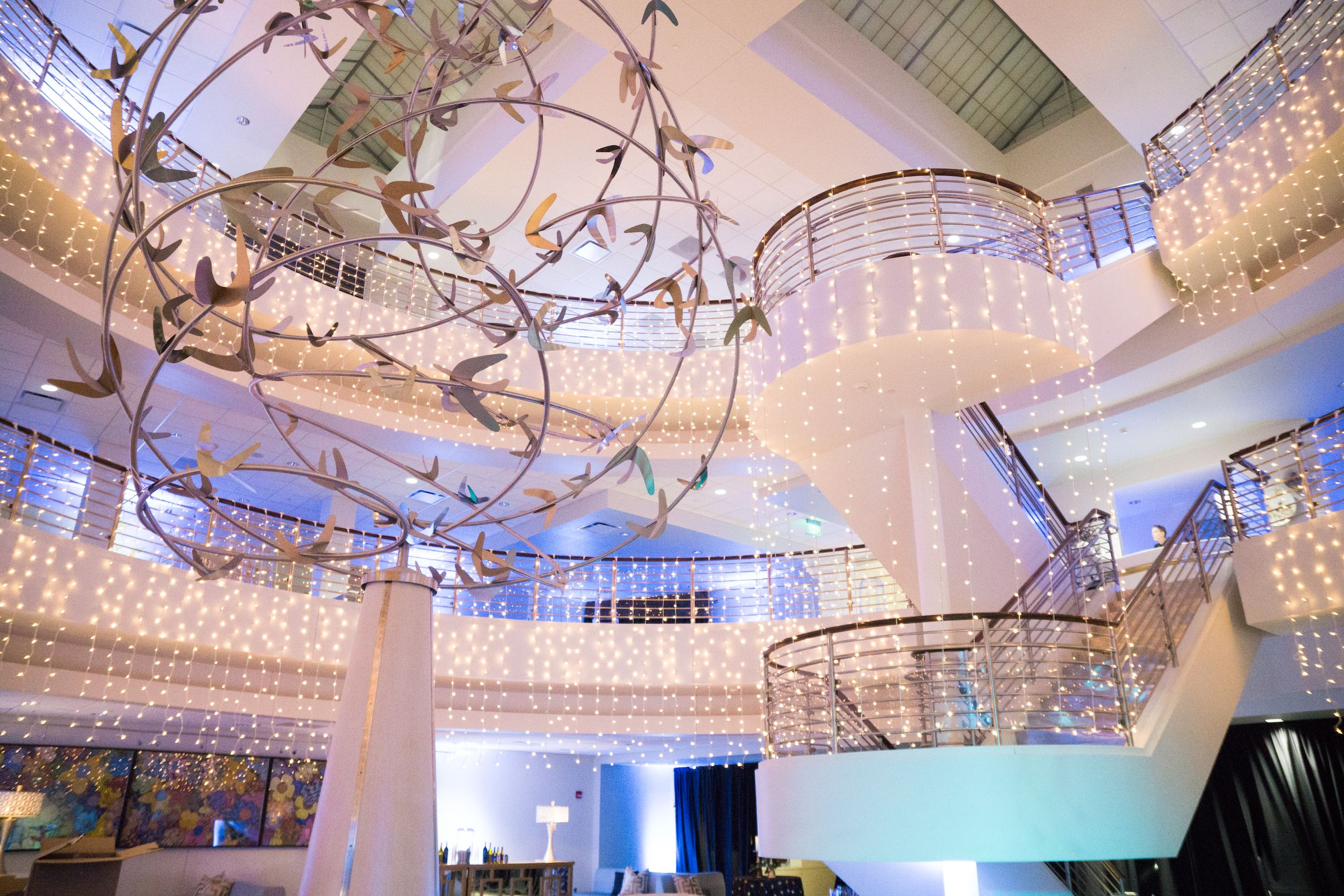 Glam Lux + Bright Dramatic Rain Lights Corporate Gatsby