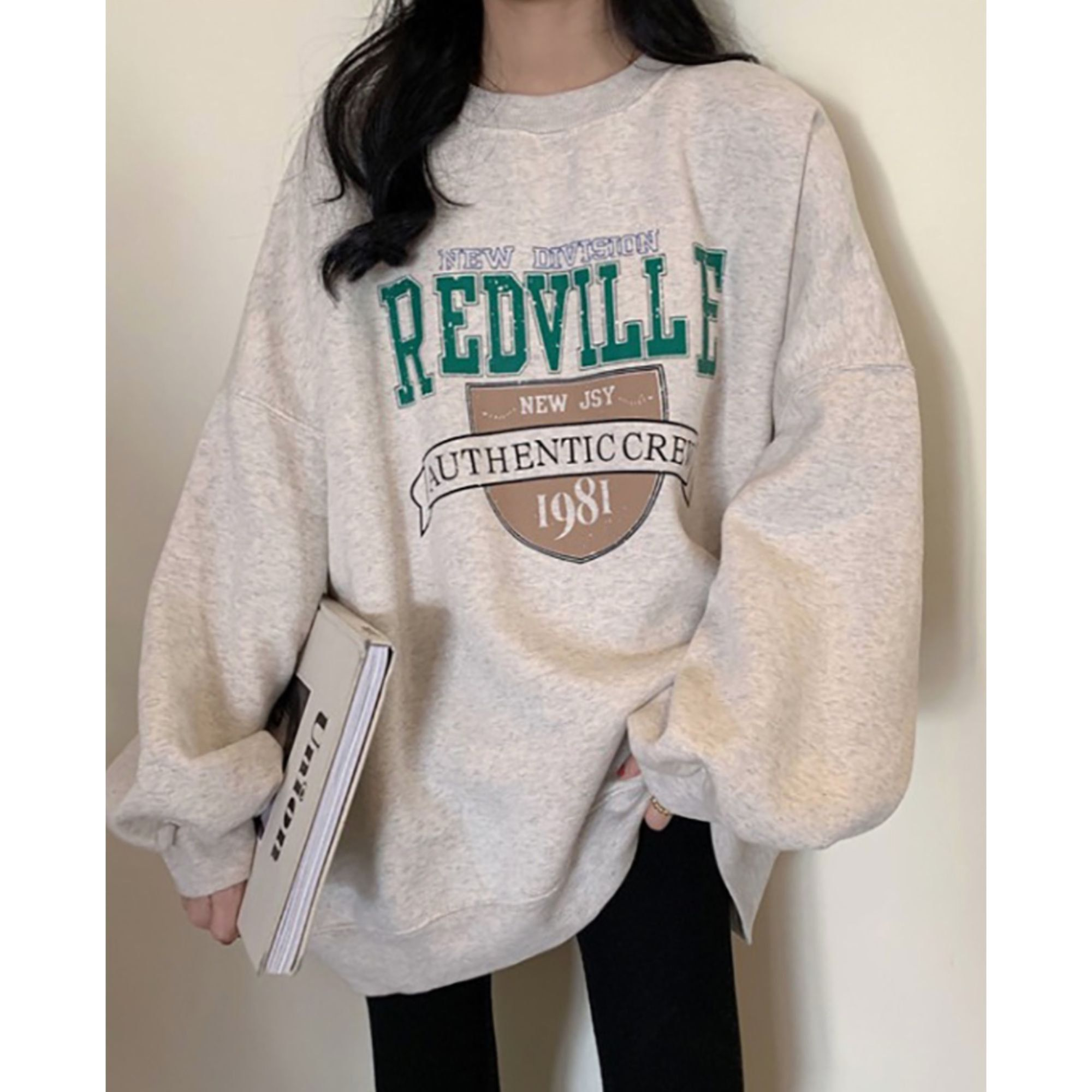 Redville Authentic Crew Oversized Sweatshirt Fleece Lined Korean Fashion Retro 90s Streetwear Winter Pullover In 2021 Oversized Outfit Cute Casual Outfits Retro Outfits [ 2000 x 2000 Pixel ]