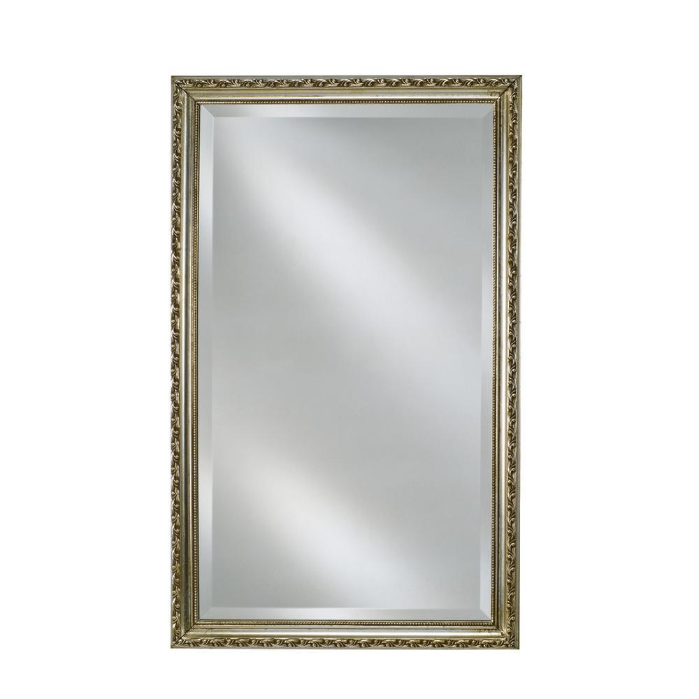 Afina Single Door 16 In X 22 In Recessed Medicine Cabinet Basix Antique Silver Sd1622rbsxsv The Home Depot Recessed Medicine Cabinet Wall Mounted Mirror Antique Mirror