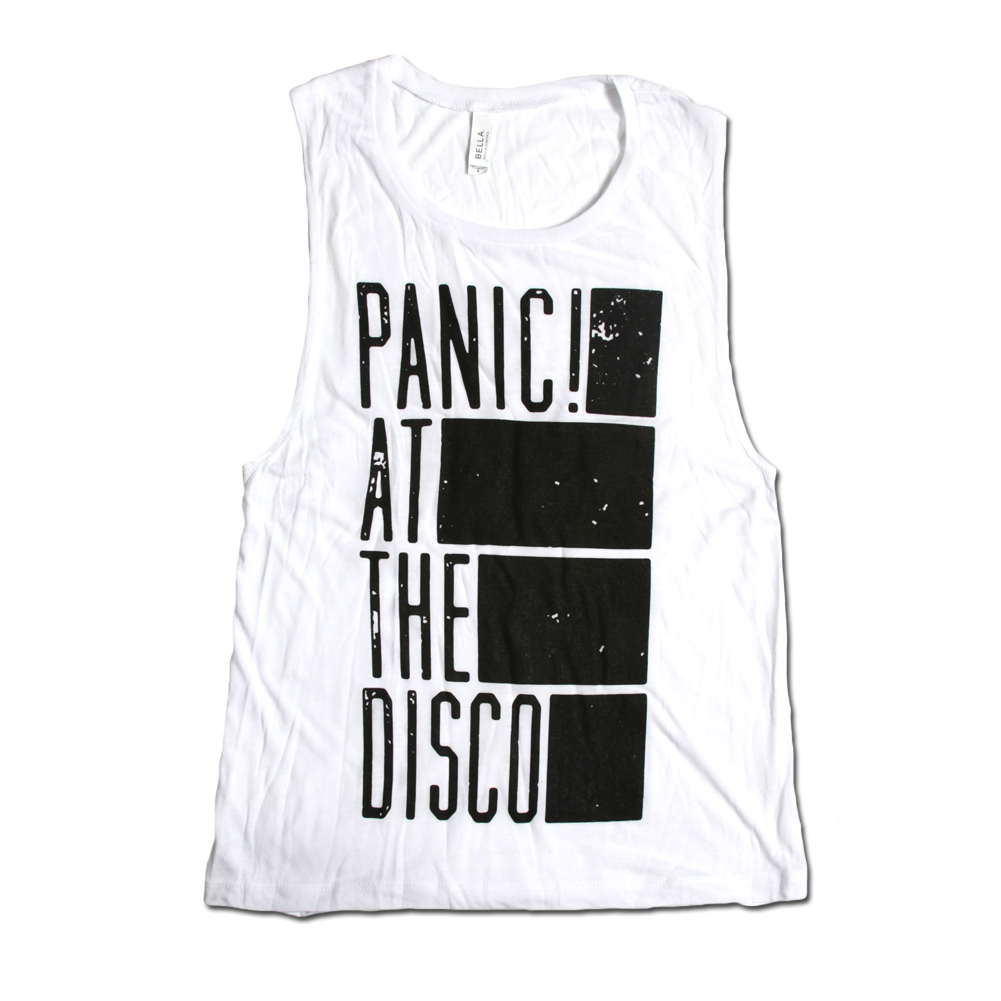 476c43566d4d0 Ladies Bars White Sleeveless - Panic! at the Disco